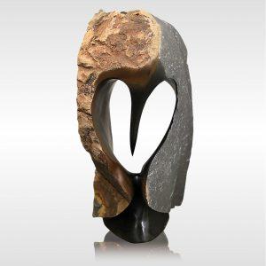 "Skulptur ""Rustic Owl 1"" von Rickson Zavare (Murehwa)"