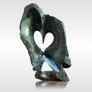 "Skulptur ""Rustic Owl 2"" von Rickson Zavare (Murehwa)"